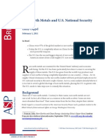 Rare Earth Metals and US Security