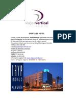 Oferta de HOTEL Almeria 2012