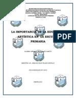 LA IMPORTANCIA DE LA EDUCACION ARTÍSTICA EN  LA ESCUELA PRIMARIA222