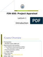 Fin650 Lectures 1-2