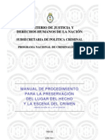 Manual de Procedimiento Para La Preservacion Del Lugar Del Hecho y La Escena Del Crimen 2011