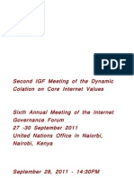 Transcript of the Dynamic Colation on Core Internet Values