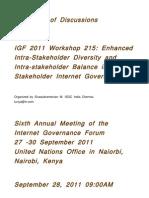 Transcript of IGF 2011 Workshop 215