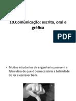 10-Comunicação escrita, oral e gráfica