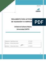 R-01  Reglamento para actividades de Validación-Verificación