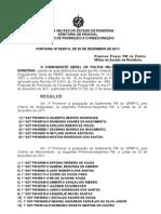 PORTARIA Nº 59 - PROM. PRAÇAS PM - DEZ 2011