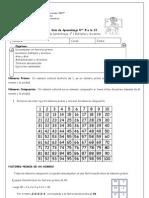Guía1 Multiplosydivisores Mcm Mcd Mate 5básico