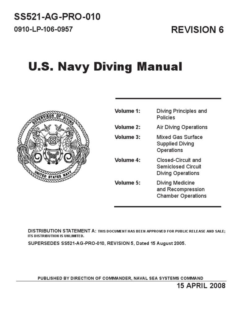 us navy diving manual revision 6 pdf scuba diving underwater diving rh scribd com
