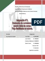 asignación modulo 3, Evaluación de correlacones con unidades de campo y flujo multifasico en tuberias.