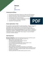 CV Jaime Laredo Jr RF UMTS GSM Optimization
