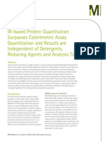 IR-based Protein Quantitation Surpasses Colorimetric Assay Quantitation