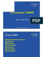 Proyecto Tuning Europa Reunion de Bilbao Nov 2004