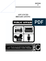 US Army Journalist Course DI0430-A - Advanced Broadcasting