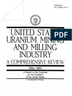 DOE 1984 Uranium Mining and Milling Review