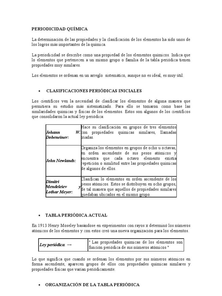 periodicidad quimica - Elementos Representativos Tabla Periodica Definicion