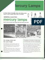 GE Mercury Lamps Brochure 1973