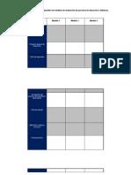 Cuadro para análisis comparativo de modelos de evaluación de procesos de educación a distancia.