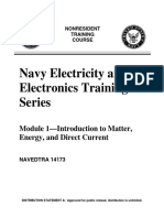 US Navy NEETS - NAVEDTRA 14173 Module 01 Introduction to Matter, Energy, And Direct Current