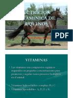 Nutricion Vitaminica de Equinos