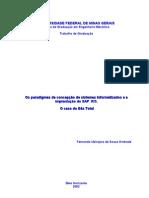 Os paradigmas da concepção de sistemas informatizados e a implantação do SAP  R/3