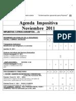 Agenda Impositiva Noviembre 2011- Pi