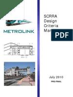 Metrolink SCRRA Design Criteria Manual
