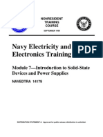 US Navy NEETS - NAVEDTRA 14179 Module 07 Introduction to Solid-State Devices and Power Supplies