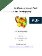 Kim Hollingsworth on Literacy Lesson Plan