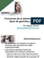 AG02-FUNCIONES DE LA ADMINISTRACIÓN, TIPOS DE GERENTES