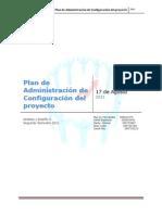 Plande AdministraciondelaConfiguracion