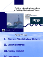 Riserless Drilling