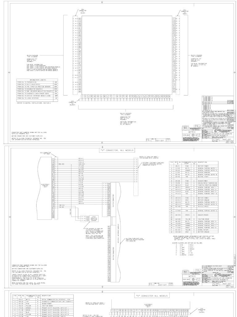 allison 4000 transmission wiring 2 tcm