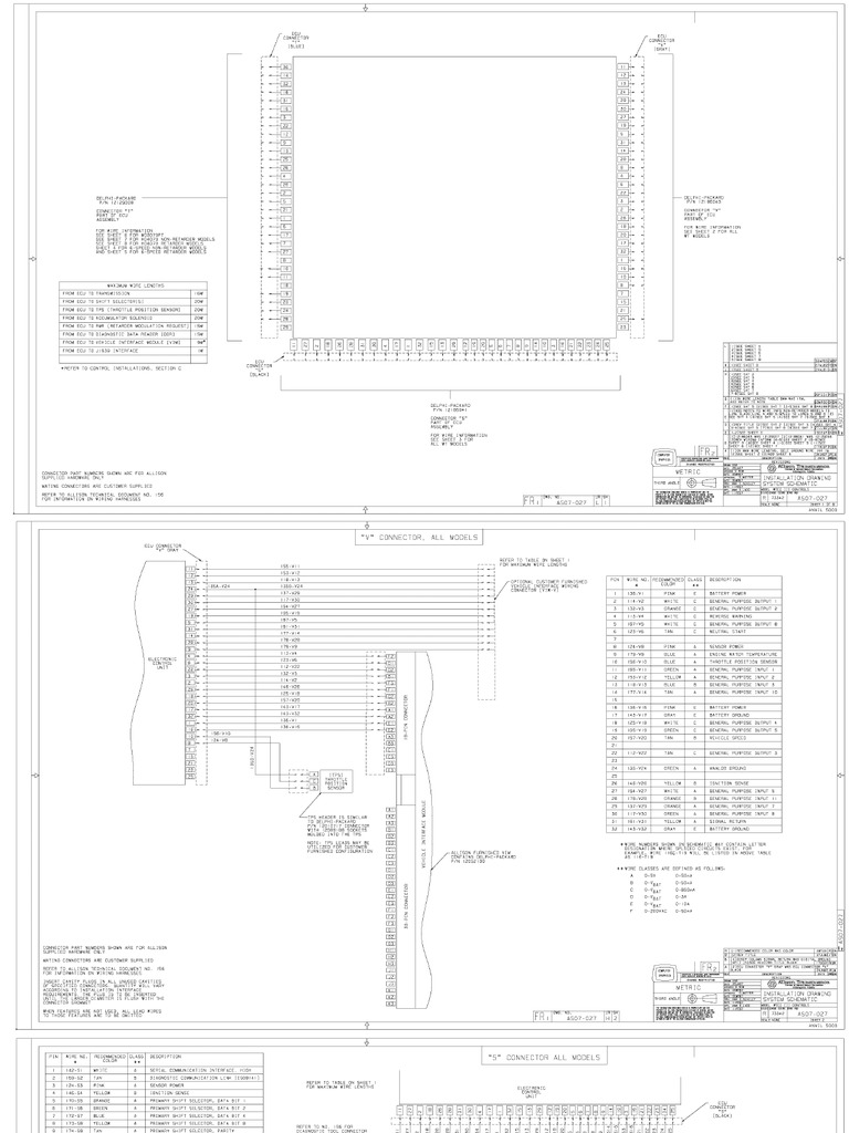 [GJFJ_338]  Allison Wiring Diagram PDF | Allison Gen 4 Wiring Diagrams |  | Scribd
