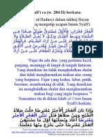 madzhab syafi'i