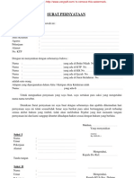 Surat Pernyataan Beda Nama Baru 2011