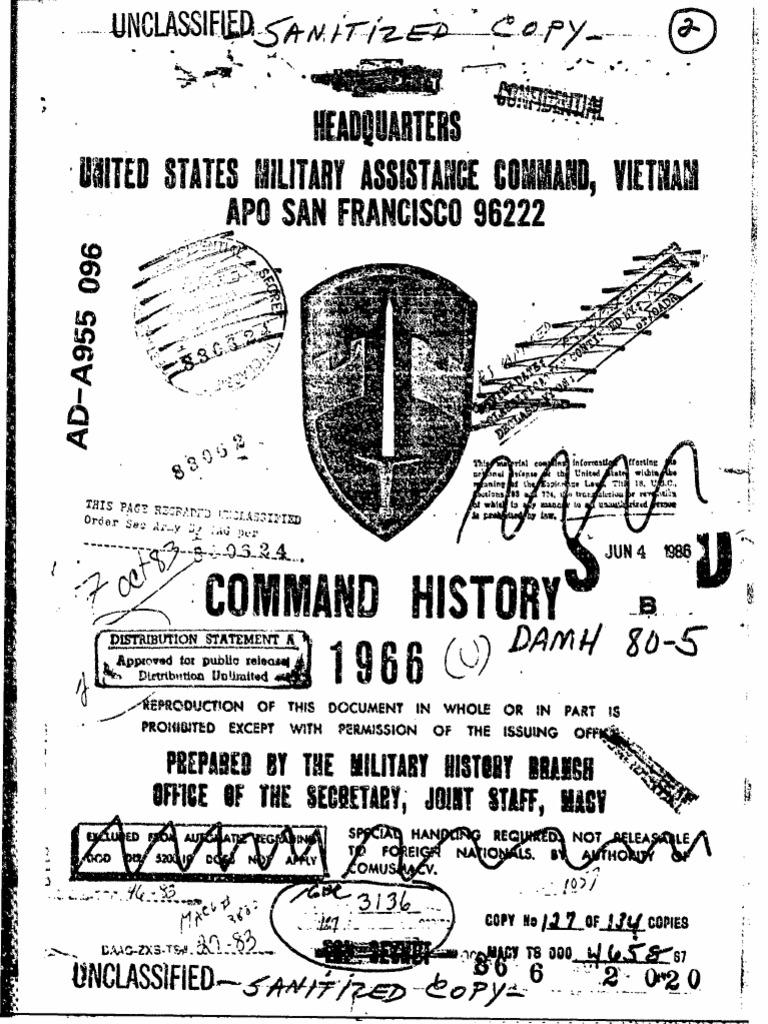 Command History 1966 Viet Cong Vietnam War Diagramme Predominance Ph On Jeep Commander Suspension Diagram