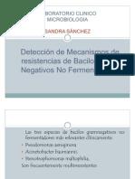 Deteccion de Mecanismos de Resist en CIA de Bacilos Gram Neg, No Ferment Adores