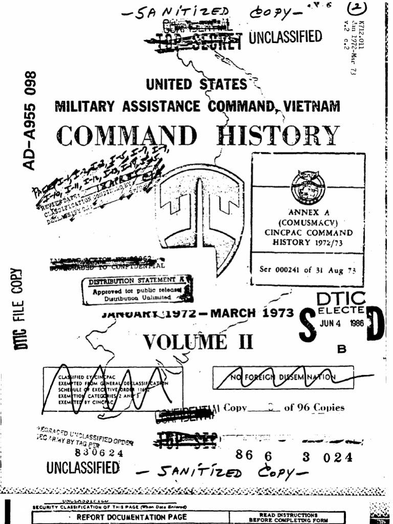 Mand History 1972 1973 Volume II