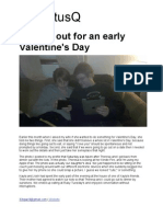 A Night Out for an Early Valentine's Day | StatusQ