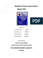 Pengukuran Radiation Patern Pada Antena Dipole VHF
