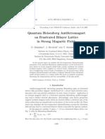 O. Derzhko, J. Richter and T. Krokhmalskii- Quantum Heisenberg Antiferromagnet on Frustrated Bilayer Lattice in Strong Magnetic Fields