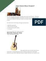 Belajar Main Gitar Dalam Masa Singkat