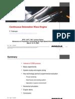 CDW Continuious Detonation Wave Engine