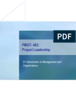 Ch 01 Introduction to Management and Organizations