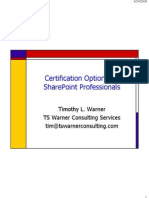 Certification Options for Share Point Professionals
