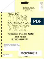 5-24-1974 Psychological Operations Against North Vietnam July 1972 - January 1973