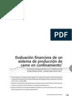 Evaluación financiera de un sistema de producción de carne en confinamiento