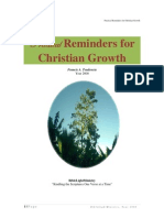 Practical Reminders for Christian Growth