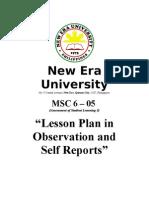 MSC 6 - Demo. Teaching - Lesson Plan - FINALE
