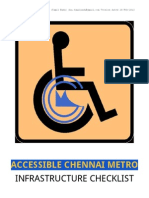 Accessibility Inputs For Chennai Metro Rail